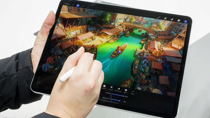 iPad Pro 2020 12.9 256GB Wi-Fi 4G vẫn được hỗ trợ tương thích với bút Pencil