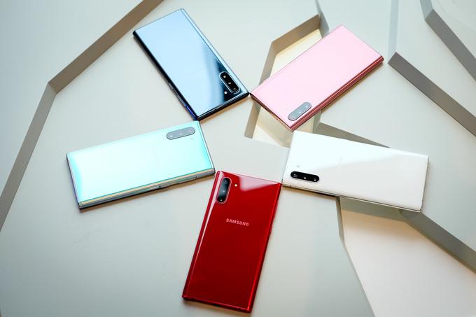 Mua Galaxy Note 10 có nhiều lựa chọn màu sắc