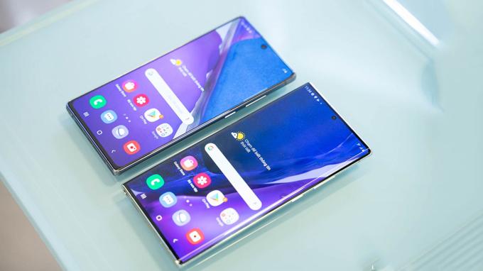 Thiết kế màn hình Galaxy Note 20 và Galaxy Note 20 Ultra có phần khác biệt