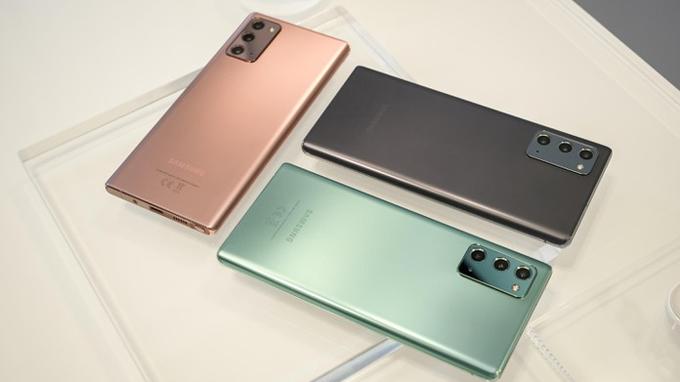 Galaxy Note 20 mang đến nhiều tùy chọn màu sắc mới cho người dùng