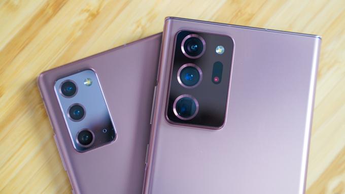 so sánh camera Galaxy Note 20 và Galaxy Note 20 Ultra có sự khác biệt vê thiết kế